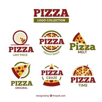 Diverse pizzeria-logo's