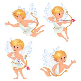 Diverse vliegende engeltjes kleine cupi