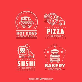 Diverse voedsel vrachtwagen logos