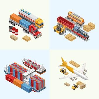 Diverse vrachtvervoer van bezorgservice