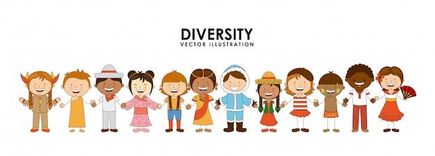 Diversiteit aan races