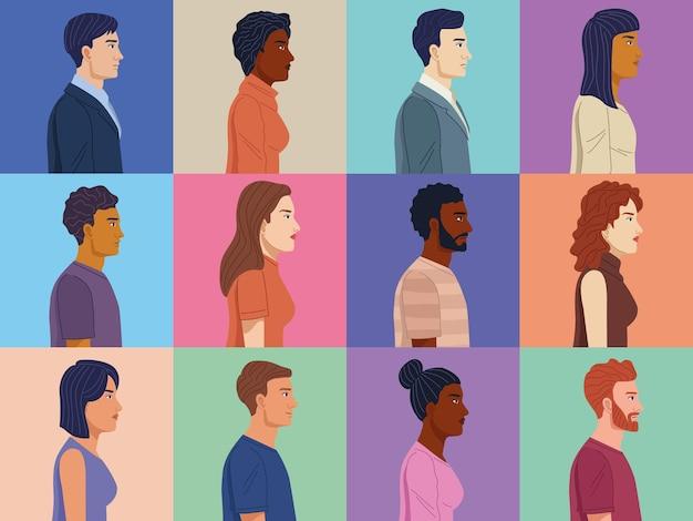 Diversiteit twaalf personen