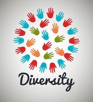 Diversiteitsmensen ontwerp
