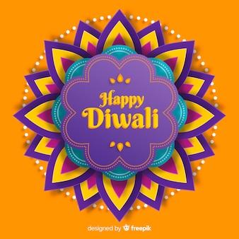 Diwali-achtergrond in document stijl