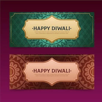 Diwali banners concept