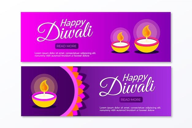 Diwali banners sjabloon