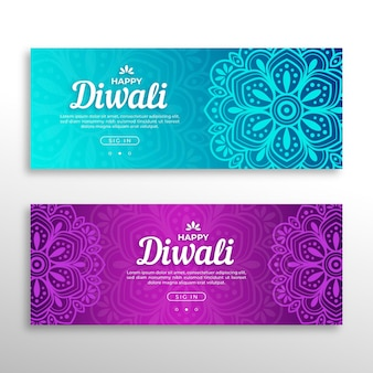 Diwali concept banners