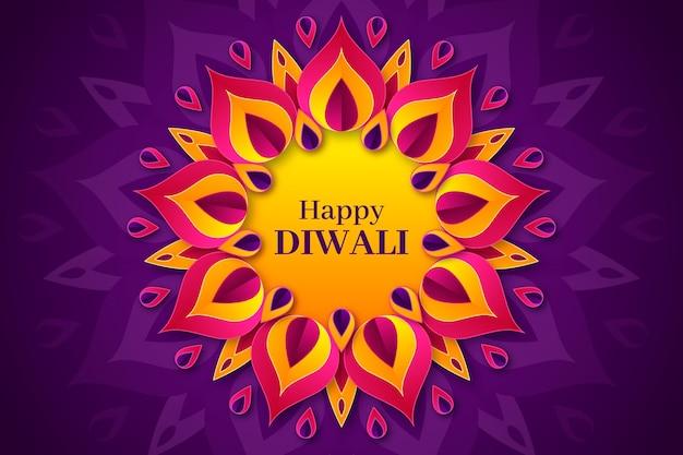 Diwali-concept in papieren stijl