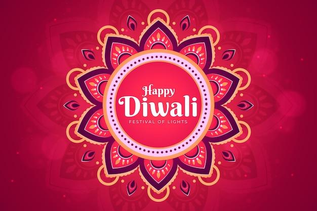 Diwali-concept in plat ontwerp