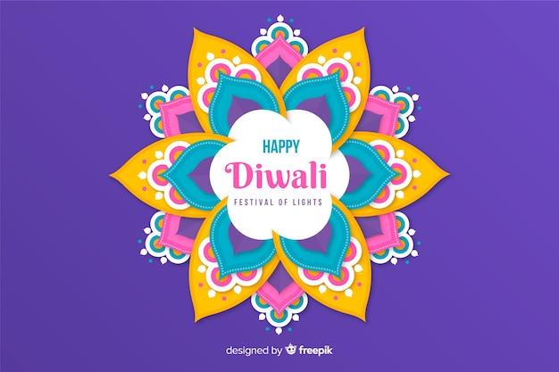 Diwali-concept met document stijlachtergrond