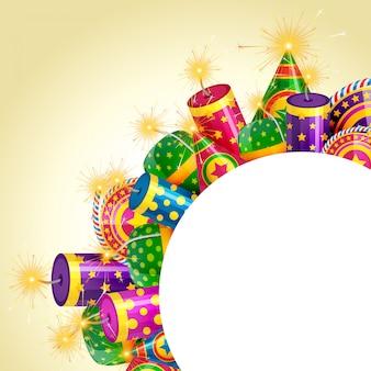 Diwali-crackersachtergrond