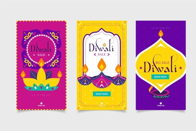 Diwali-evenementverkoop instagramverhalen