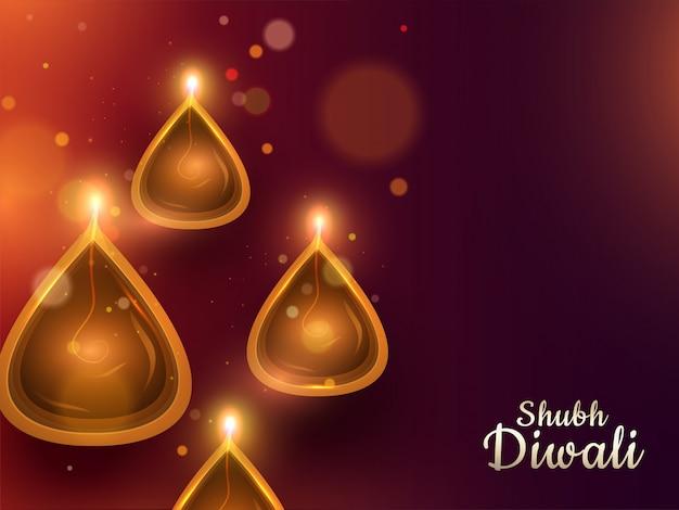 Diwali festival achtergrond.