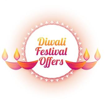 Diwali-festival biedt kleurrijke diya-illustratie aan