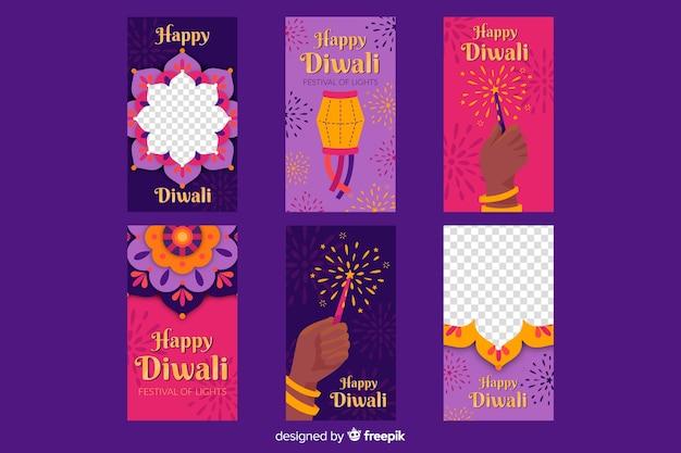 Diwali festival instagram-verhalen
