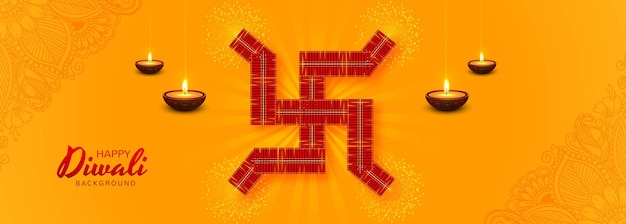 Diwali festival kerstkaart banner achtergrond