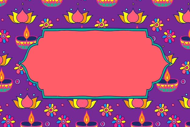 Diwali festival rangoli indiase frame