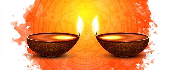 Diwali festival-viering kleurrijke banner of kopbal
