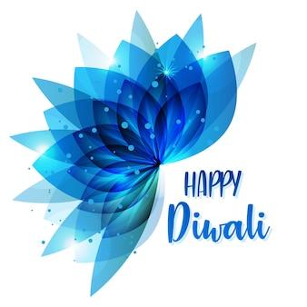 Diwali-festivalachtergrond rond bloemenornament diwali-achtergrondsjabloon met bloemenornet