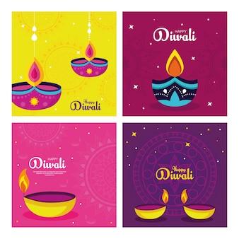 Diwali festivalvakantie met decoratie.