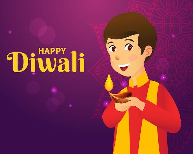Diwali groet conceptontwerp