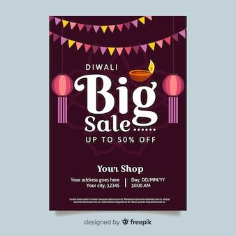 Diwali grote verkoop poster sjabloon