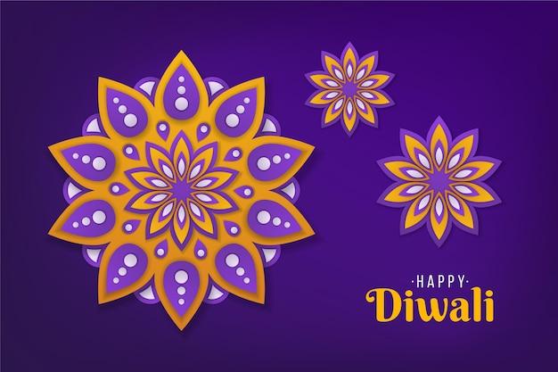 Diwali in papieren stijl