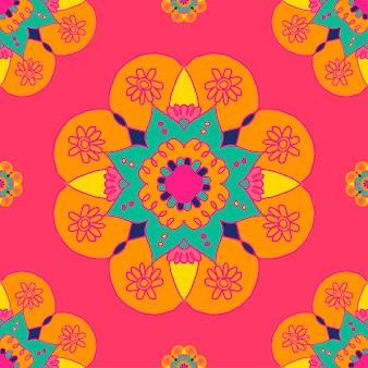Diwali indiase mandala patroon achtergrond
