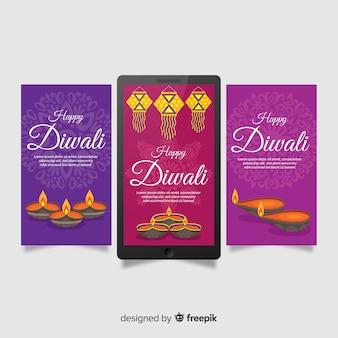 Diwali instagram-verhalenpakket