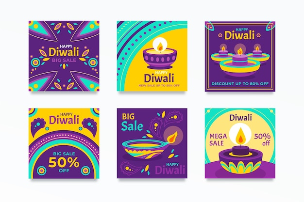 Diwali instagram verkoop post set