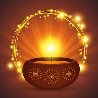 Diwali-kaars