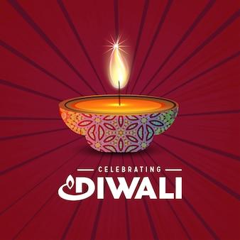 Diwali mandala achtergrond