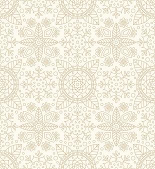 Diwali naadloos patroon met indisch ornament, bloem en blad