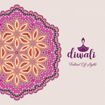 Diwali-ontwerp met unieke stijl en typografievector