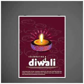 Diwali ontwerpt donkere achtergrond en typografievector