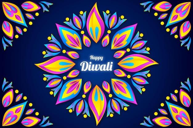 Diwali papier stijl achtergrond
