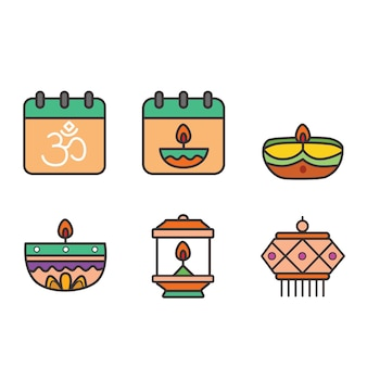 Diwali-pictogrampakket