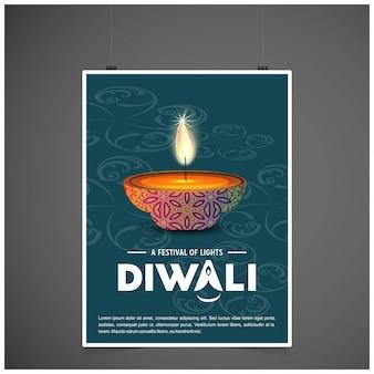 Diwali poster achtergrond