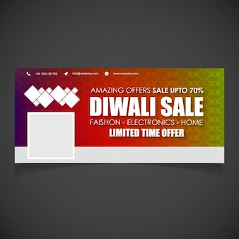 Diwali sale facebook cover