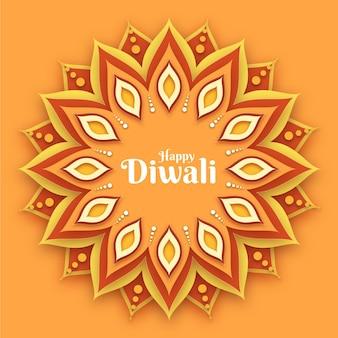 Diwali traditioneel evenement in papieren stijl