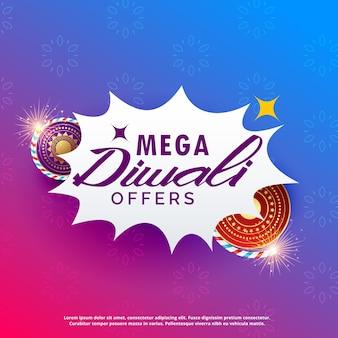 Diwali verkoop achtergrond met crackers levendige achtergrond Premium Vector