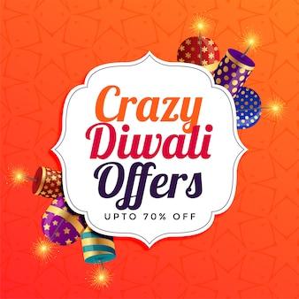 Diwali verkoop achtergrond met crackers