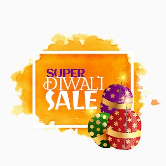 Diwali verkoop achtergrond met sprankelende crackers