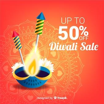 Diwali verkoop achtergrond