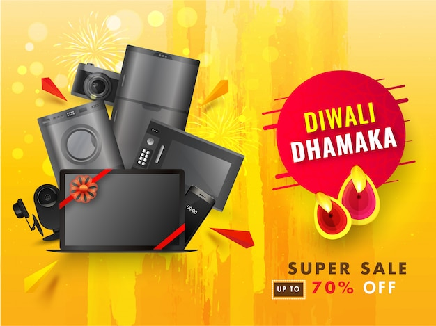 Diwali verkoop banner