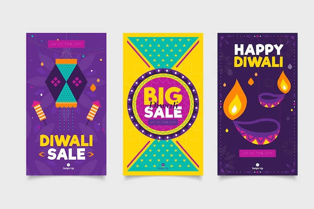 Diwali verkoop evenement instagram posts