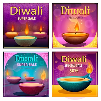 Diwali verkoop instagram posts collectie