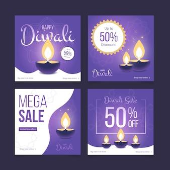 Diwali verkoop instagram posts collectie