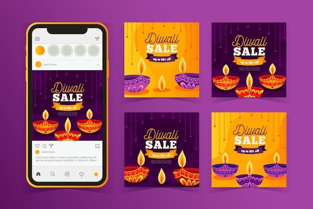 Diwali verkoop instagram postverzameling