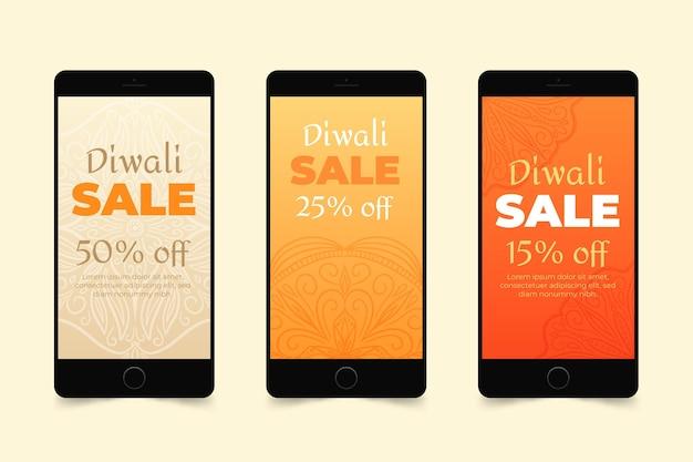 Diwali verkoop instagram verhaalset